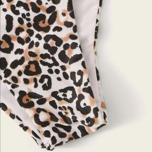 SHEIN Swim - SHEIN one shoulder leopard bikini